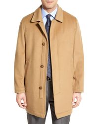 Hart Schaffner Marx 'douglas' Classic Fit Wool & Cashmere Overcoat - Natural