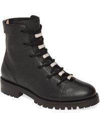 Jimmy Choo Bren Crystal Embellished Biker Boot - Black