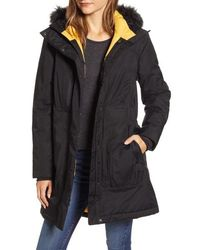 The North Face Arctic Ii Waterproof 550 Fill Power Down Parka With Faux Fur Trim - Black