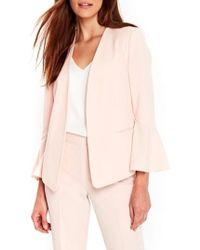 Wallis Bell Sleeve Jacket - Pink