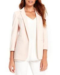 Wallis Ribbed Ponte Blazer - Pink
