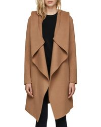 SOIA & KYO - Hooded Wool Blend Coat - Lyst