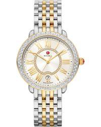 Michele Serein Diamond Watch Head & Bracelet - Metallic