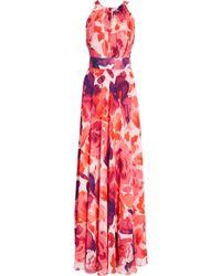 Eliza J Floral Print Halter Maxi Dress - Multicolour