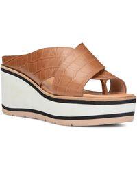 Donald J Pliner Arya Platform Slide Sandal - Brown