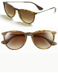 Ray-Ban - Erika Classic 54mm Sunglasses - Havana/ Brown Gradient - Lyst