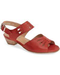 Fidji - 'v112' Perforated Leather Sandal - Lyst