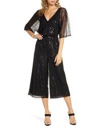 BB Dakota She's Sparkling Sequin Beaded Jumpsuit - Black