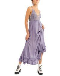 Free People - Adella Maxi Slip Dress - Lyst