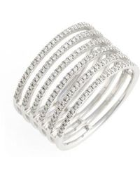 Bony Levy - 'prism' Six-row Diamond Ring (nordstrom Exclusive) - Lyst