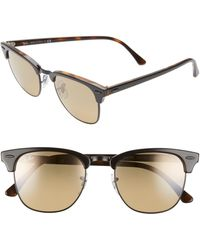 Ray-Ban 'clubmaster' 51mm Sunglasses - Brown