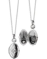 Monica Rich Kosann - White Sapphire Bridle Locket Necklace - Lyst