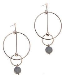 Nakamol - Drusy Post Hoop Earrings - Lyst