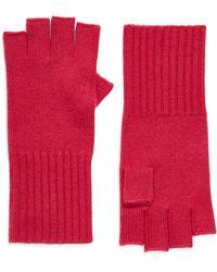 Halogen Halogen Cashmere Fingerless Gloves - Red
