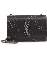 Saint Laurent - Small Kate Marbled Satin Crossbody Bag - - Lyst