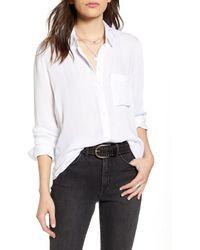 Treasure & Bond Dobby Classic Shirt - White