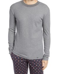 Hanro - Night & Day Thermal Long Sleeve Sleep Shirt - Lyst