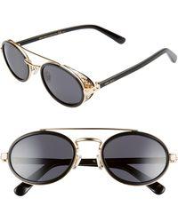 Jimmy Choo Tonies 51mm Round Sunglasses - Metallic