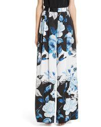 Off-White c/o Virgil Abloh - Floral Wide Leg Silk Pants - Lyst