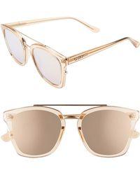 Quay Sweet Dreams 51mm Square Sunglasses - Champagne/ Rose - Multicolor