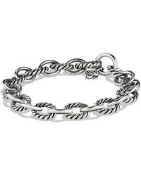 David Yurman 'oval' Link Bracelet - Metallic