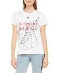 Alexander McQueen Dancing Girls Graphic Tee - White