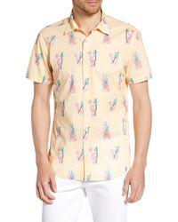 Bonobos Riviera Slim Fit Lemonade Print Shirt - Natural