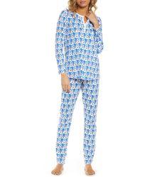 Roberta Roller Rabbit Monkey Pyjamas - Blue