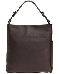 AllSaints - Mast Leather Shoulder Tote - - Lyst