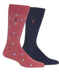 Polo Ralph Lauren - Ralph Lauren 2-pack Flags Socks - Lyst
