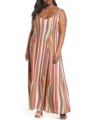 Rachel Roy | Rachel Rachel Roy Stripe Strappy Maxi Dress | Lyst