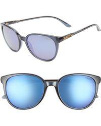 c41667df2d Smith - Cheetah 54mm Mirrored Round Sunglasses - Crystal Mediterranean   Purple - Lyst