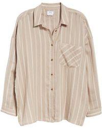 RVCA - Holt Stripe Tie Hem Top - Lyst