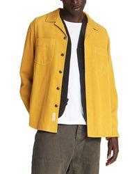 Rag & Bone Heath Shirt - Corduroy Relaxed Fit Button Down Shirt - Yellow