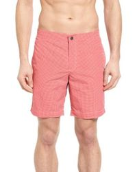 Boto - Aruba Microcheck Tailored Fit 8.5 Inch Swim Trunks - Lyst