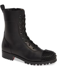 Christian Louboutin - Lace-up Hiker Boot - Lyst