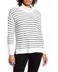 Caslon Caslon Cozy Relaxed Turtleneck Sweater - White
