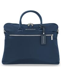 Briggs & Riley Slim Business Briefcase - Blue