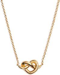Kate Spade Loves Me Knot Mini Pendant Necklace - Metallic