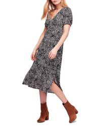 Free People - Looking For Love Midi Dress - Lyst