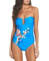 Ted Baker - Harmony Bandeau One-piece Swimsuit - Lyst