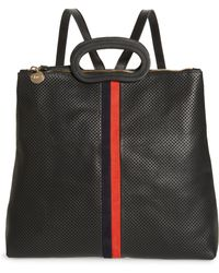 Clare V. - Marcelle Perforated Leather Backpack - - Lyst