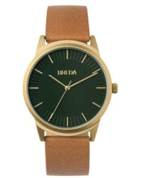 Breda - Bresson Leather Strap Watch - Lyst