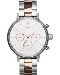 MVMT Nova Chronograph Bracelet Watch - Metallic