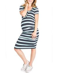 Nom Maternity - Snap Maternity/nursing Shirtdress - Lyst