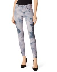 340be1cb87d83 Lyst - PAIGE Verdugo Skinny Jeans Tumble Tie Dye in Blue
