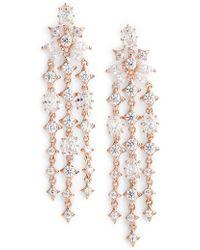 Nadri - Boho Linear Drop Earrings - Lyst