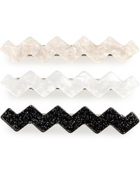 Tasha Set Of 3 Wiggle Hair Clips - Black