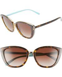94061a44c875 Lyst - Tiffany   Co. Tiffany 59mm Metal Aviator Sunglasses - Pale ...