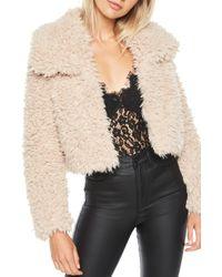 Bardot Faux Fur Jacket - Multicolor